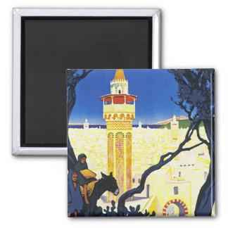 Tunis ~ L'Orient Aux Portes de Marseille 2 Inch Square Magnet