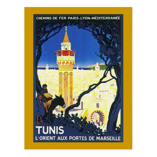 Tunis ~ L'Orient Aux Portes de Marseille Post Card