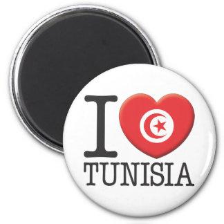 Tunisia 2 Inch Round Magnet