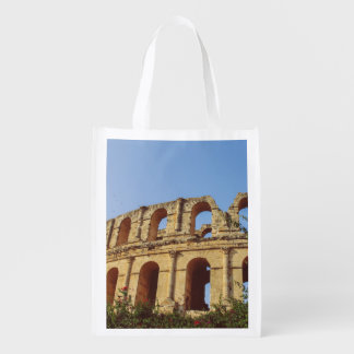 Tunisia amphitheatre grocery bag
