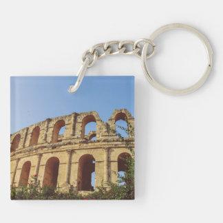 Tunisia amphitheatre acrylic keychain