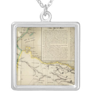 Tunisia and Libya Square Pendant Necklace