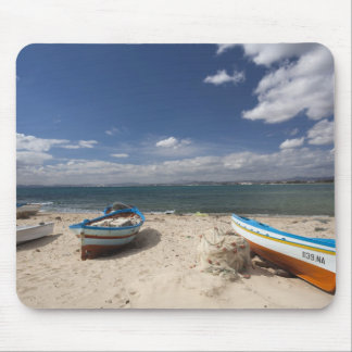 Tunisia, Cap Bon, Hammamet, fishing boats on Mouse Pad