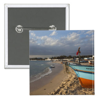 Tunisia, Cap Bon, Hammamet, waterfront, Pinback Button