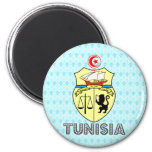 Tunisia Coat of Arms 2 Inch Round Magnet