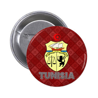 Tunisia Coat of Arms Button