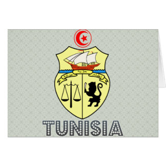 Tunisia Coat of Arms Cards