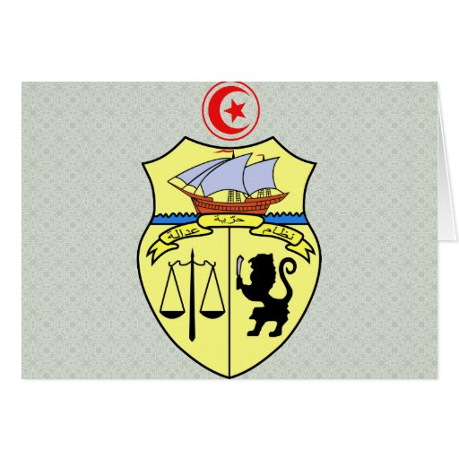 Tunisia Coat of Arms detail Card