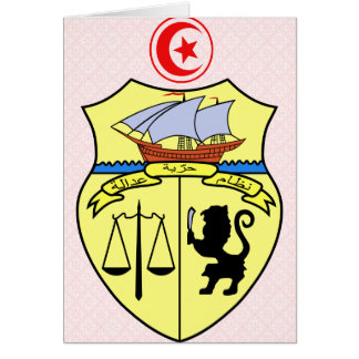 Tunisia Coat of Arms detail Greeting Card