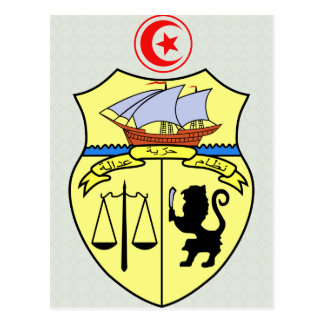Tunisia Coat of Arms detail Post Card