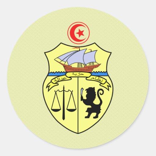 Tunisia Coat of Arms detail Round Sticker