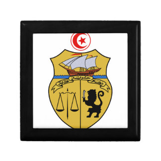 Tunisia Coat of Arms Trinket Boxes