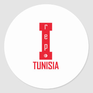 tunisia design classic round sticker
