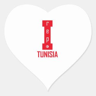 tunisia design heart sticker