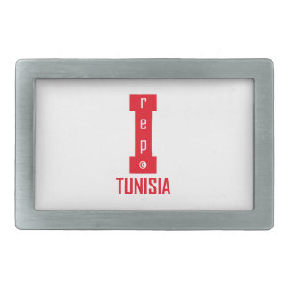 tunisia design rectangular belt buckle