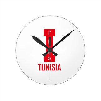 tunisia design round clock