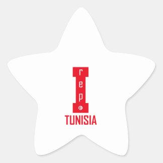 tunisia design star sticker