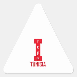 tunisia design triangle sticker