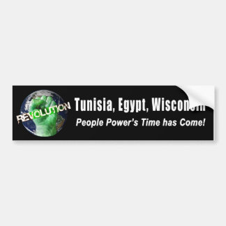 Tunisia, Egypt, Wisconsin Bumper Sticker