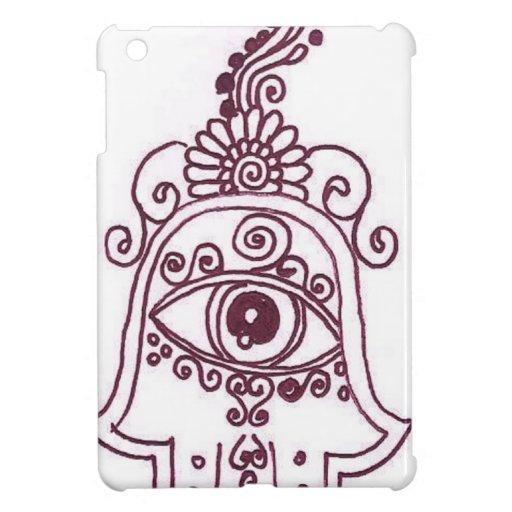 tunisia evil eye henna iPad mini case