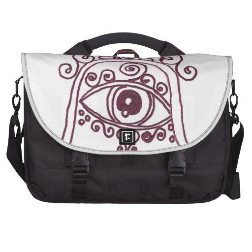 tunisia evil eye henna laptop commuter bag