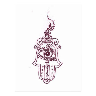 tunisia evil eye henna postcard
