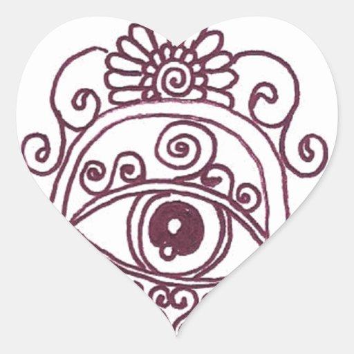 tunisia evil eye henna heart sticker