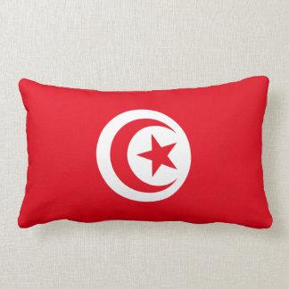 Tunisia Flag American MoJo Lumbar Pillow