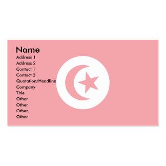 Tunisia Flag Business Card Templates