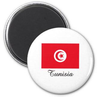 Tunisia Flag Design 2 Inch Round Magnet