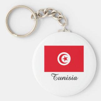 Tunisia Flag Design Basic Round Button Keychain