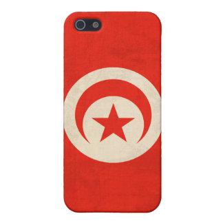 Tunisia Flag Distressed iPhone 4 Case