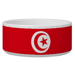Tunisia Flag Dog Bowl