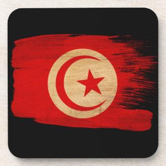 Tunisia Flag Drink Coaster