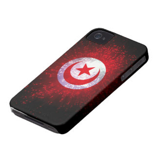 Tunisia Flag Firework iPhone 4 Case-Mate Case