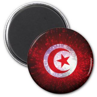 Tunisia Flag Firework Fridge Magnet