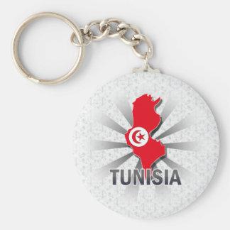 Tunisia Flag Map 2.0 Keychain