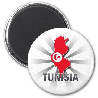 Tunisia Flag Map 2.0 Magnet