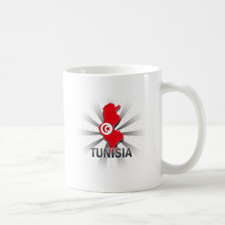 Tunisia Flag Map 2.0 Coffee Mugs