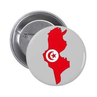 Tunisia flag map pinback buttons
