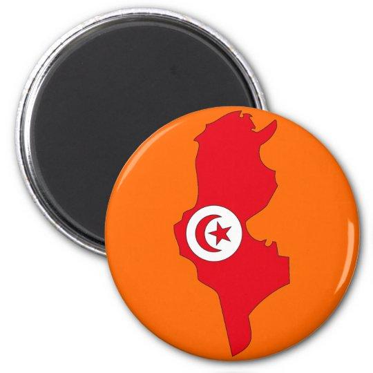 Tunisia flag map magnet