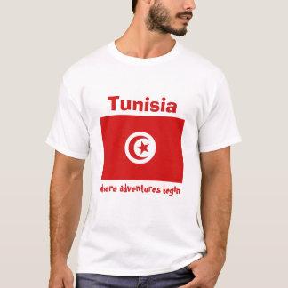 Tunisia Flag + Map + Text T-Shirt