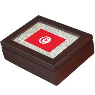 Tunisia Flag Memory Box