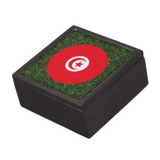 Tunisia Flag on Grass Premium Jewelry Box