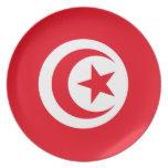 Tunisia Flag Plate