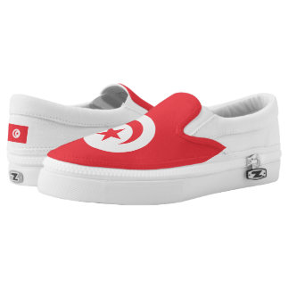 Tunisia Flag -.png Slip-On Sneakers