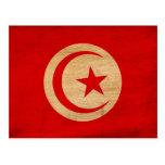 Tunisia Flag Post Cards