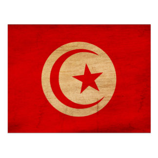 Tunisia Flag Postcard