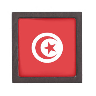Tunisia Flag Premium Keepsake Box
