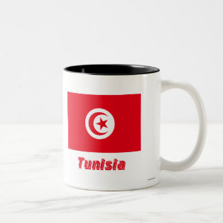 Tunisia Flag with Name Coffee Mugs